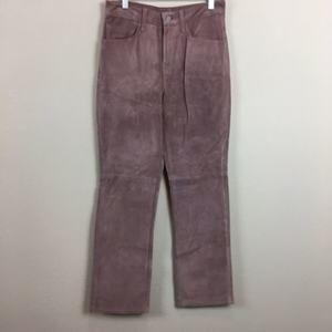 Womens Levis XS Pink Mauve Suede Leather Pants